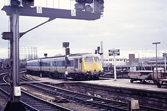 British Rail Classes 251 and 261 - Class 251 unit arriving at Bristol Temple Meads in 1973.