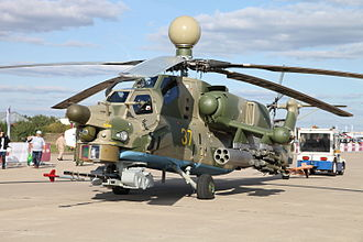 Mil Mi-28 - Mi-28N with radar station and new nose sensors