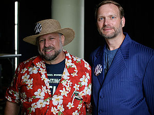 Michael S. Hart - Michael Hart (left) and Gregory Newby of Project Gutenberg at H.O.P.E Conference, 2006