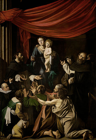 Madonna of the Rosary (Caravaggio) - Image: Michelangelo Merisi, called Caravaggio Madonna of the Rosary Google Art Project