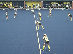 Michigan Wolverines field hockey - The 2014 Michigan field hockey team in action against Michigan State
