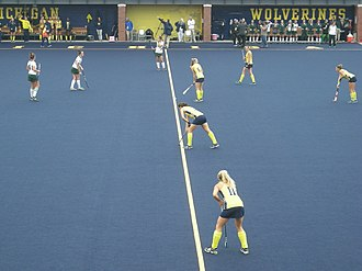 Michigan Wolverines field hockey - The 2014 Michigan field hockey team in action against Michigan State