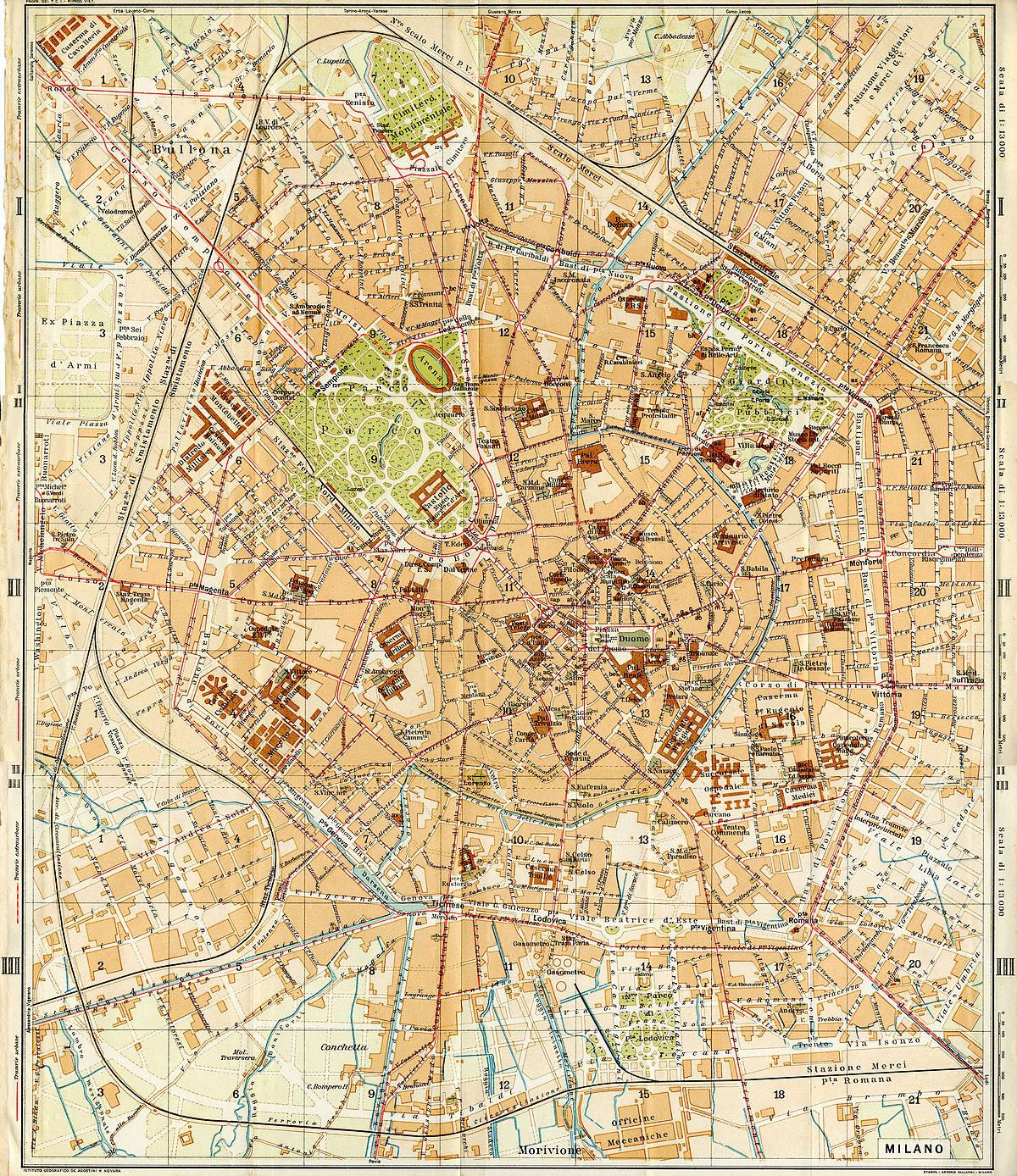 Cartina 1914.File Milano Touringclubitaliano 1914 Jpg Wikimedia Commons