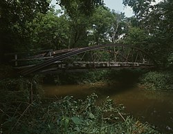 Mill Road Bowstring Bridge over Wakatomika Creek