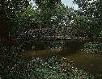 Wakatomika Creek - The Mill Road Bowstring Bridge over Wakatomika Creek near Bladensburg in western Jackson Township, Knox County, Ohio, is listed on the National Register of Historic Places.