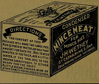 Mincemeat - Late 19th-century commercial mincemeat package