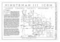 Minuteman III ICBM Launch Control Facility November-1, 1.5 miles North of New Raymer and State Highway 14, New Raymer, Weld County, CO HAER COLO,62-NERAY.V,1- (sheet 1 of 4).png