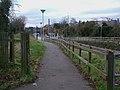 Mitcham tramstop southeastern entrance.JPG