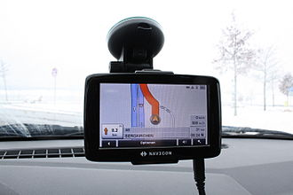 Suction cup - SatNav devices often ship with suction cup holders for mounting on windscreens.