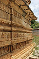Molding frieze and relief at Ranganathaswamy temple in Neerthadi village of Chitradurga district.JPG
