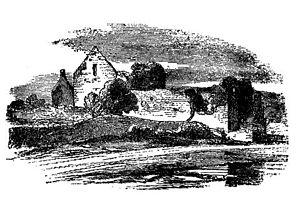 Annaghdown - Illustration of Monastic Ruins at Annaghdown