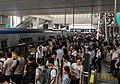 Monday morning rush at Xi'erqi Station, southbound (20170904084423).jpg