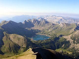 Lac dAllos lake in France