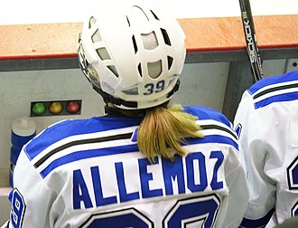 France women's national ice hockey team - Marion Allemoz in Canada ice hockey