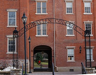 Moravian College - Gate of the South Campus from Main Street