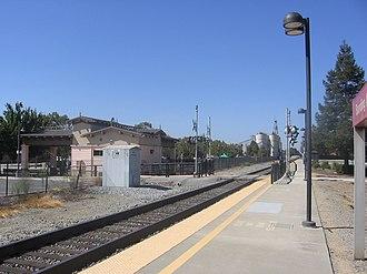 Morgan Hill station - Morgan Hill station in September 2012
