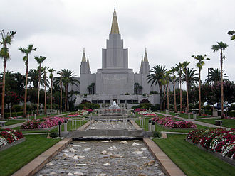 Oakland Hills, Oakland, California - Oakland's Mormon Temple sits prominently astride the Hayward Fault