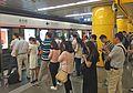 Morning rush for L14 at Jintailu Station (20160905081636).jpg