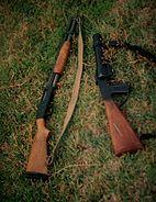 Mossberg 500 shotgun & Federal Riot Gun of the Bermuda Regiment