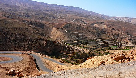Terrace farming on Sinjar mountains Mountainside fields.jpg