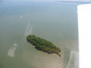 Mouse Island (Ohio) - Aerial photo of Mouse Island, from the northwest