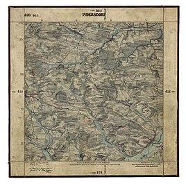Urpositionsblatt der Landvermessung in Bayern, Blatt 611 (Indersdorf und Umgebung) von 1863