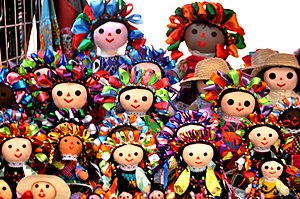 "Rag doll - ""Maria"" rag dolls are associated with the Otomi people of Querétaro, Mexico."