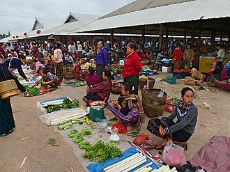 Muang Sing - Muang Sing market, formerly a major opium market in the Golden Triangle