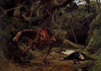 Muerte de Antonio José de Sucre en Berruecos - 1895, Venezuela  Óleo sobre tela 120,2 x 175,5 cm.