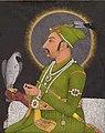 Muhammad Shah Holding a Falcon, 1764, Muhammad Rizavi Hindi (cropped).jpg