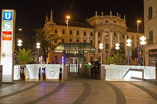Munich Karlsplatz station metro and train station in Munich, Germany