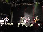 Music performances at Cowes Yacht Haven during Cowes Week 2011.JPG
