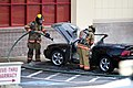 Mustang car fire at CVS on Key West Highway in North Potomac MD July 12 2012 (7575631444).jpg