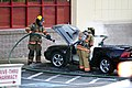 Mustang car fire at CVS on Key West Highway in North Potomac MD July 12 2012 (7575632682).jpg