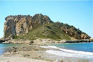Doğanbey, Seferihisar - The rock of Myonessos near Doğanbey