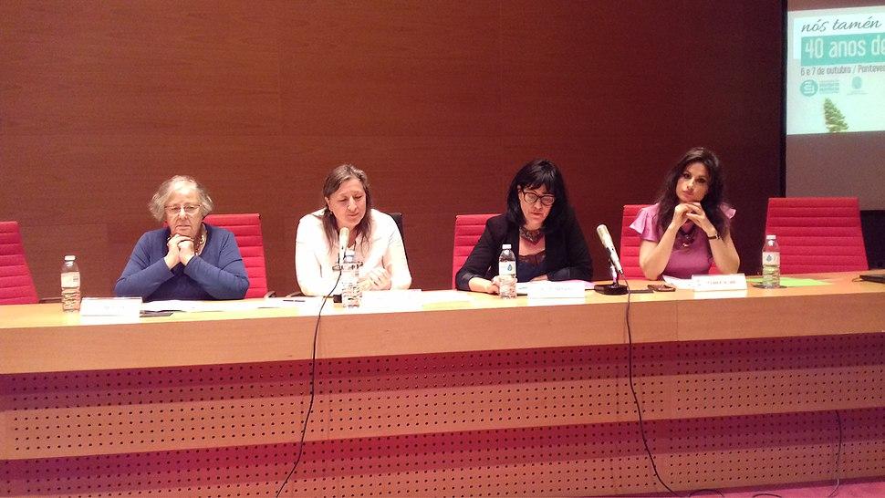 Nós tamén navegar. Helena Villar Janeiro, Marta Dacosta, Rosa Enríquez e Yolanda Castaño