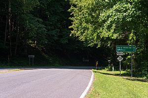 North Carolina Highway 28 - NC 28 approaching the Town of Fontana Dam