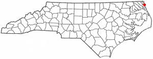 Corolla, North Carolina - Location of Corolla, North Carolina