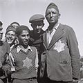 NEW IMMIGRANTS, SURVIVORS OF THE EUROPEAN NAZI CAMPS AFTER THEIR ARRIVAL AT THE ATLIT RECEPTION CAMP. עולים חדשים, ניצולי שואה, במחנה העולים בעתלית.D820-046.jpg