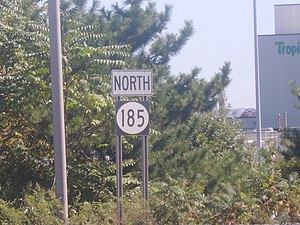 New Jersey Route 185 - Shield for northbound Route 185