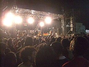 La band in concerto a Cagliari nel 2008.