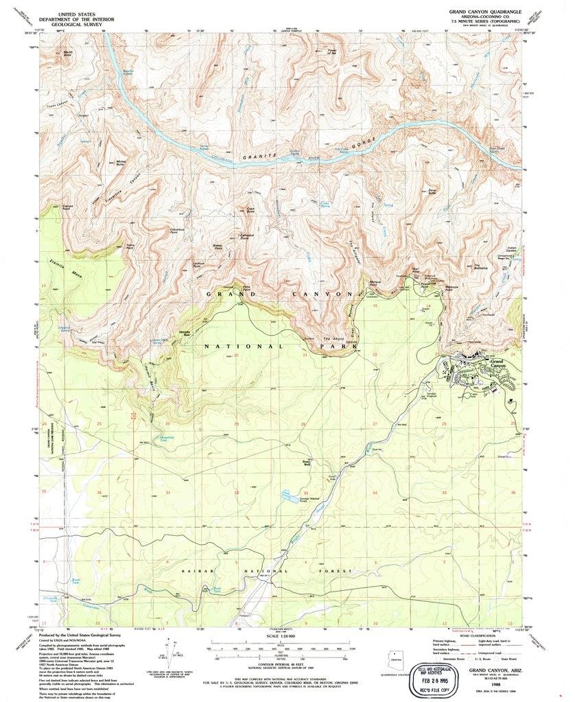 File Nps Grand Canyon South Rim West Topo Map Pdf