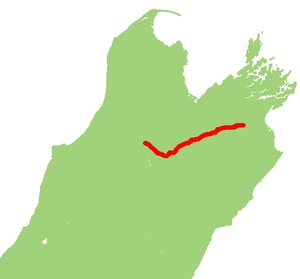 New Zealand State Highway 63 - Image: NZ SH 63 map