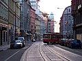 Na Poříčí, pohled k Bílé labuti, tramvaj.jpg