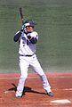 Naoto Watanabe, infielder of the Yokohama BayStars, at Yokosuka Stadium.JPG