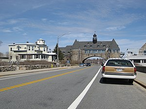 Narragansett, Rhode Island - The Towers, which pass over Ocean Road along Rhode Island Sound, is Narragansett's most famous landmark.