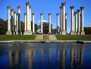 United States National Arboretum - The National Capitol Columns originally supported the old East Portico of the United States Capitol (1828). The columns were removed during expansion of the Capitol in 1958.