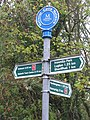 National Cycle Network route 1 signpost at Eskbank - geograph.org.uk - 1035634.jpg