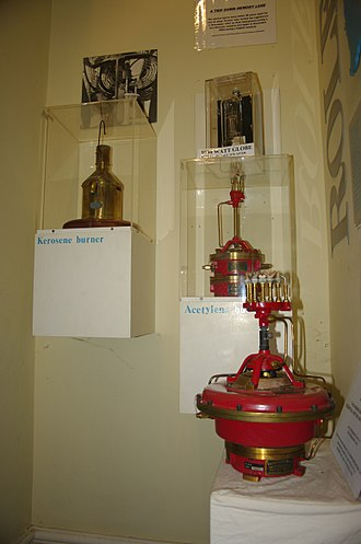 Lighthouse museum - light units on display in the former keeper's residence