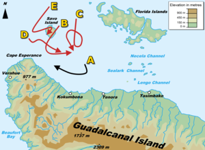 Naval battle of Guadalcanal, November 14, 1942